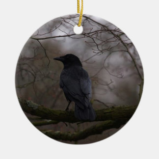 Black Raven Ceramic Ornament