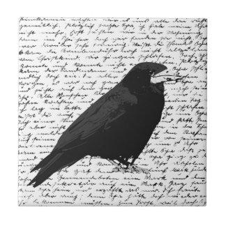 Black raven ceramic tile