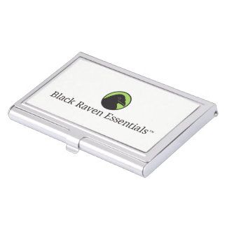 Black Raven Essentials Logo Business Card Holder