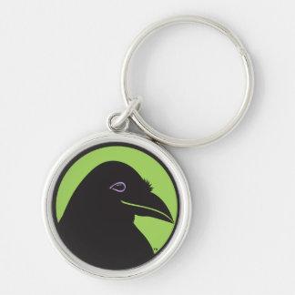 Black Raven Essentials Logo Keychain