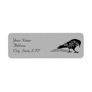 Black Raven Gothic Frame Return Address Return Address Label