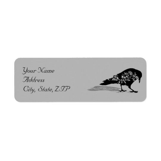 Black Raven Gothic Frame Return Address Return Address Label