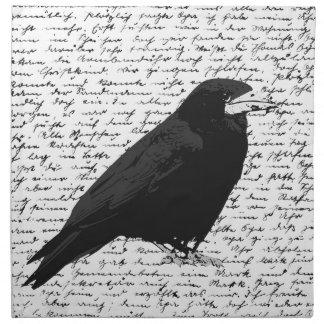 Black raven napkin