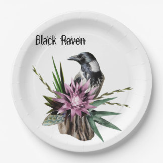 Black Raven Paper Plate