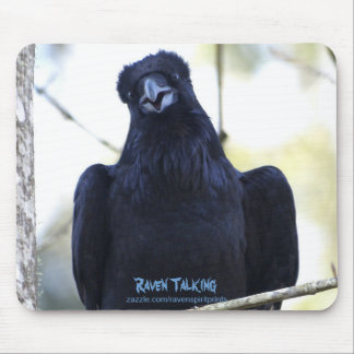 BLACK RAVEN TALKING MOUSE PAD