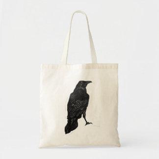 Black Raven Tote Bag