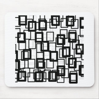 Black Rectangles Mouse Pad