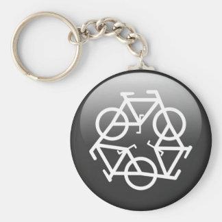 Black Recycle Keychain by Petr Kratochvil