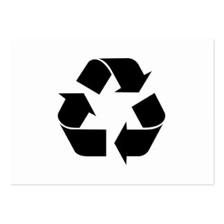 Black Recycling Symbol Pack Of Chubby Business Cards