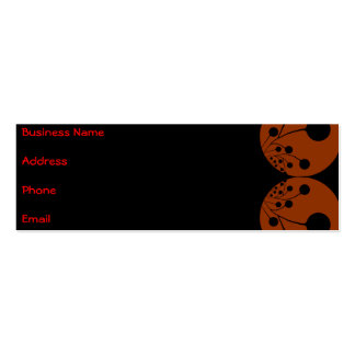 Black & Red Abstract Business card