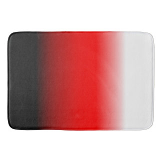 Black, Red and White Gradient Bath Mat