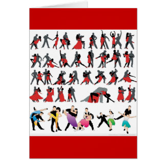 BLACK RED BALLROOM COLORFUL DANCERS DANCE DIGITAL CARD