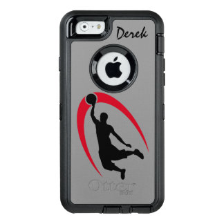 Black Red Basketball Player OtterBox Defender iPhone Case