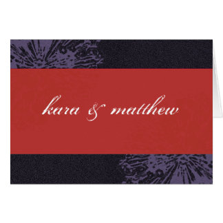 Black & Red Blossom Save the Date Greeting Card