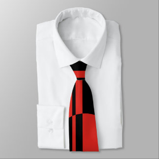 Black red bold circle stripes positive negative tie