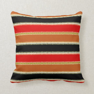 Black Red Brown 2017 Throw Pillow Trend