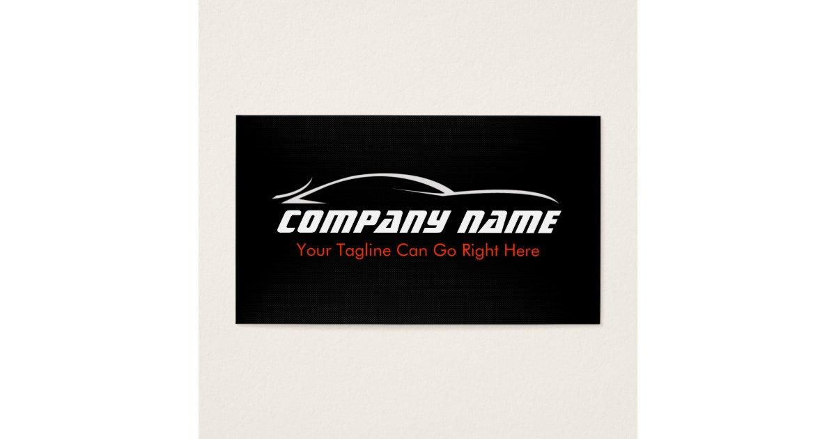 Black red car auto carbon fibre business card zazzle reheart Choice Image
