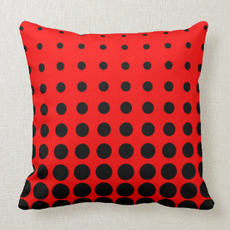 Black & Red Colourful Vector abstract dot Throw Pillow
