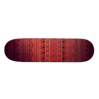black&red gradient aztec pattern 19.7 cm skateboard deck