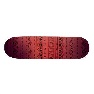 black&red gradient aztec pattern skateboard