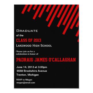 Black & Red Graduation Invitation