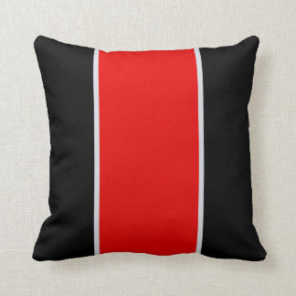 Black Red Gray Throw Pillow