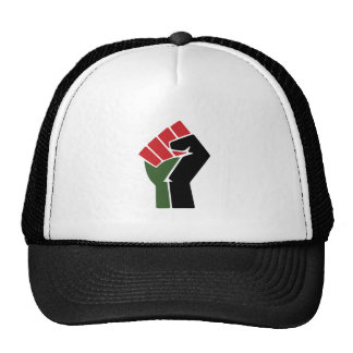 Black Red Green Fist Cap