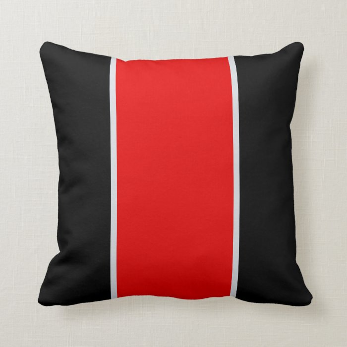 Black Red Grey Throw Pillow Throw Cushion Zazzle