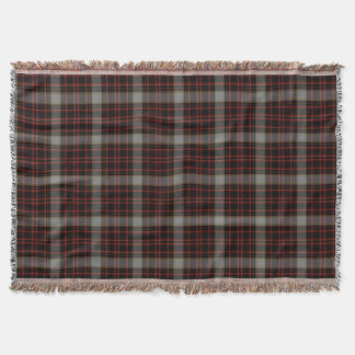 Black Red Grey Yellow Gold Large Tartan Plaid Throw Blanket