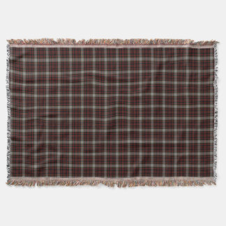 Black Red Grey Yellow Gold Tartan Plaid Throw Blanket