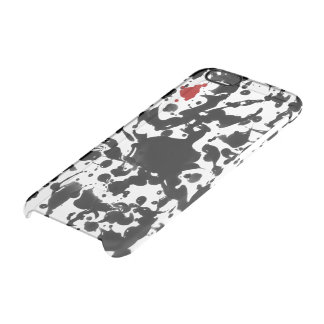 Black & Red Ink / Splatter + your background color Clear iPhone 6/6S Case