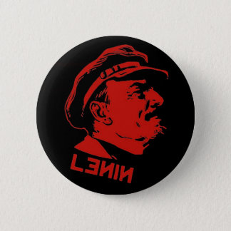 Black & Red Lenin Communist Artwork 6 Cm Round Badge