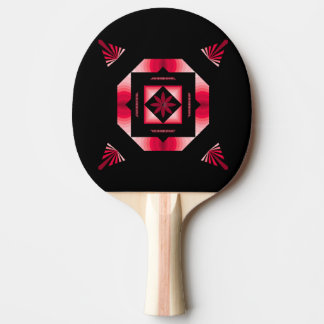 Black & Red Ping Pong Paddle