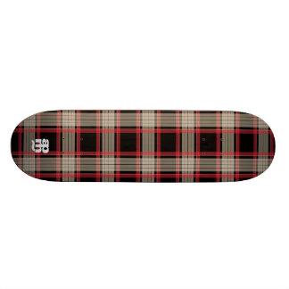 Black & Red Plaid 20 Cm Skateboard Deck