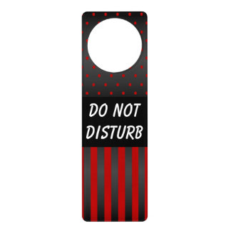 Black & Red Polka Dots | Do Not Disturb Sign