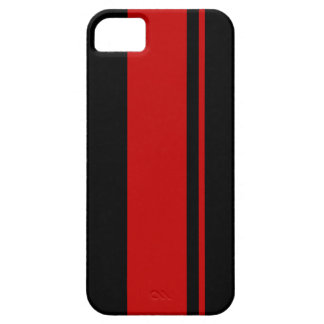 Black & Red Racing Stripes - Race Car Inspired iPhone 5 Cases