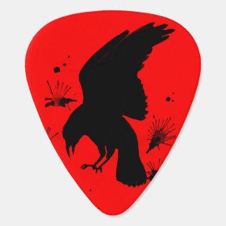 Black red raven nevermore plectrum