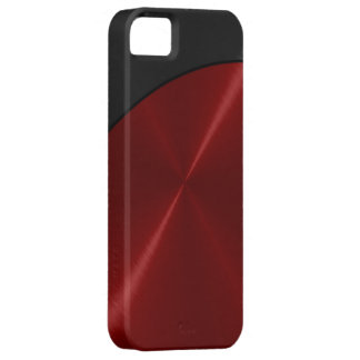 Black Red Shiny Steel Metal iPhone 5 Cover