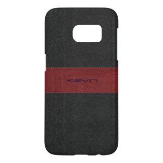 Black & Red Stitched Vintage Leather GR2