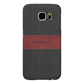 Black & Red Stitched Vintage Leather GR3 Samsung Galaxy S6 Cases