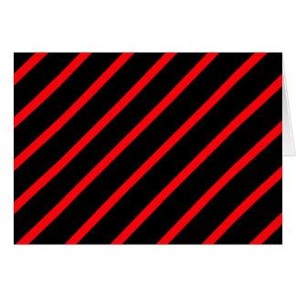 Black red stripes greeting card