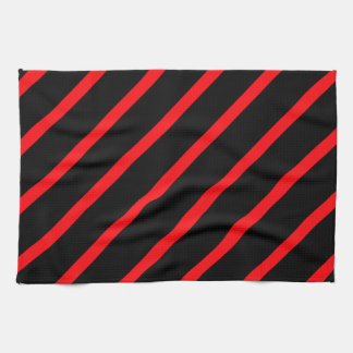 Black red stripes towels