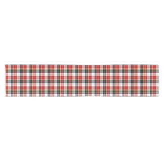 """Black, Red & White 14"""" X 72"""" Table Runner"""