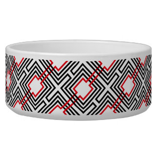 Black Red & White Geometric