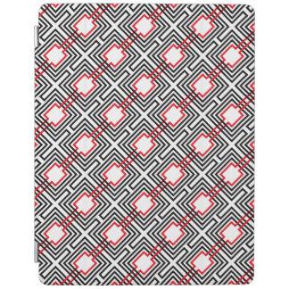 Black Red & White Geometric iPad Cover