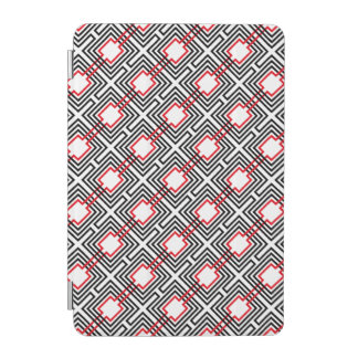 Black Red & White Geometric iPad Mini Cover