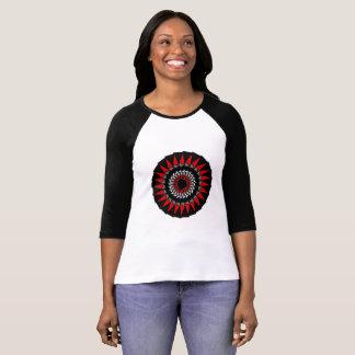 Black Red White Geometric Razor Design Shirt