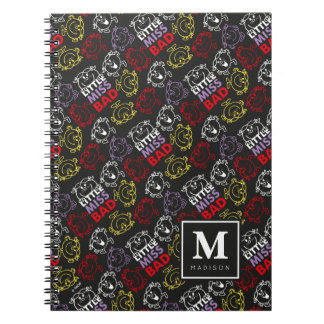 Black, Red & Yellow Pattern | Add Your Name Notebook
