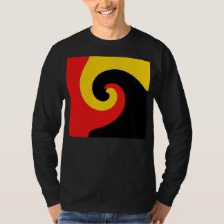 Black Red Yellow Swirl Retro Painting Abstract Art T-Shirt
