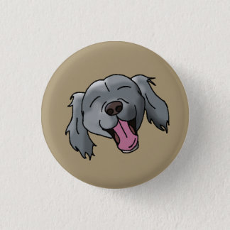 Black Retriever Smiling 3 Cm Round Badge